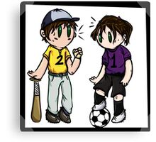 Sports Siblings Canvas Print