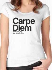 Carpe Diem. Women's Fitted Scoop T-Shirt