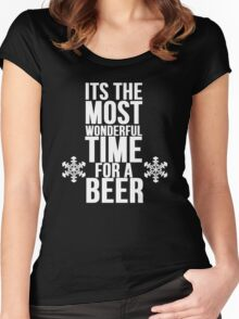 Its The Most Wonderful Time For A Beer Women's Fitted Scoop T-Shirt