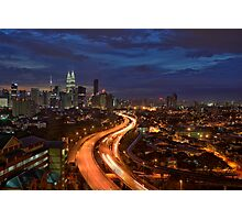 Blue Hour Sunset over Kuala Lumpur Photographic Print