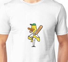 Duck Cricket Player Batsman Standing Unisex T-Shirt