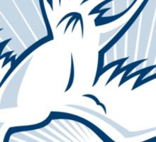 Heron Crane Diving Down Cartoon Sticker