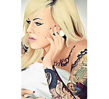 Inked girl. Photographic Print