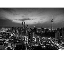 Sunrise over Kuala Lumpur (B&W) Photographic Print