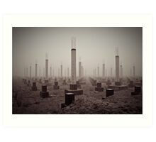 cemetery of the 21st century Art Print