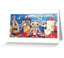 Cyberman DJ / Doctor Who Holidays Greeting Card