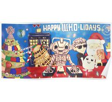 Cyberman DJ / Doctor Who Holidays Poster