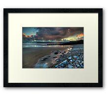 Amroth beach at sunset Framed Print