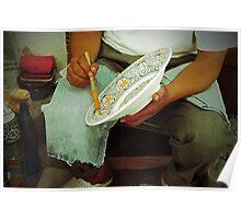 Ceramic worker Poster