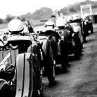 Vintage Sportcar Queue in the Pits by Lynchie