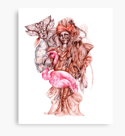 Strange african seller of birds Canvas Print