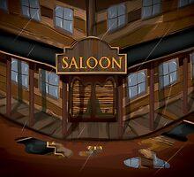 Wild West Saloon bar  by Nick  Greenaway