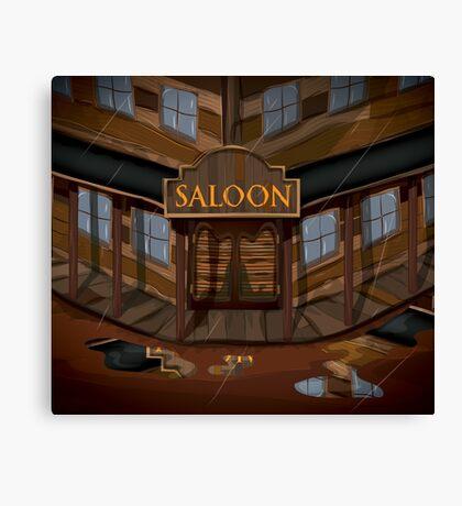 Wild West Saloon bar  Canvas Print