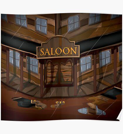 Wild West Saloon bar  Poster