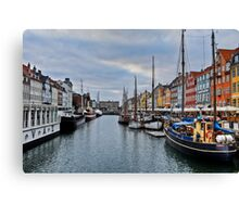 Copenhagen Nyhavn, Dusk over the Harbour Canvas Print