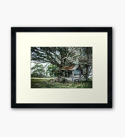 The Milk Can Shed Framed Print