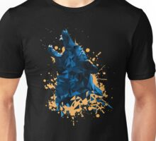 Blue Geometric Barking Shepherd Unisex T-Shirt