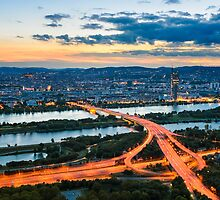 Vienna Sunset by Michael Abid
