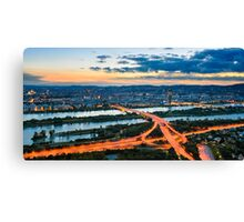 Vienna Sunset Canvas Print