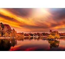 Sunset over Jamaica Pond Photographic Print