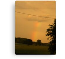 Rainbow Over The Field                      Pentax X-5 Series 16 MP Canvas Print