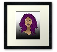 Girl with purple hair  Framed Print