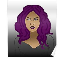 Girl with purple hair  Poster