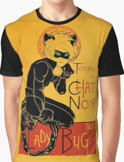 Black Cat and the Ladybug Graphic T-Shirt
