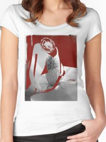 Nude magnolia. Women's Fitted Scoop T-Shirt