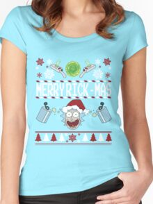 Merry Rick-Mas Women's Fitted Scoop T-Shirt