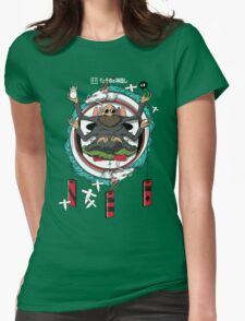 Spirited Away Bath House Crest Womens Fitted T-Shirt