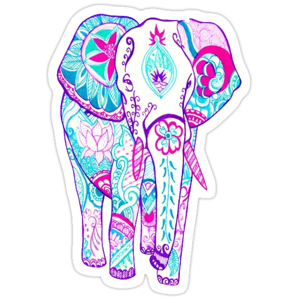 Quot Elephant Tumblr Quot Stickers By Charlo19 Redbubble