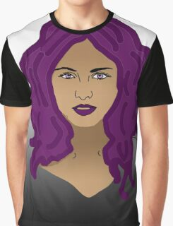 Girl with purple hair  Graphic T-Shirt