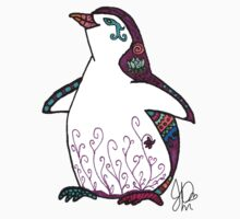 Penguin in Sharpie  by JasmineMDeLeon