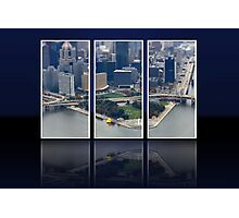 Aerial of Giant Duck in Pittsburgh Photographic Print