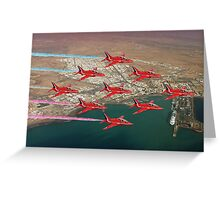 The Red Arrows - Diamond 9 Greeting Card