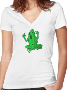 Circuit Frog Women's Fitted V-Neck T-Shirt