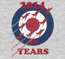 50 Years Of The Red Arrows Tee Shirt Baby Tee