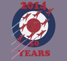 50 Years Of The Red Arrows Tee Shirt Kids Clothes