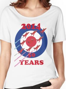 50 Years Of The Red Arrows Tee Shirt Women's Relaxed Fit T-Shirt