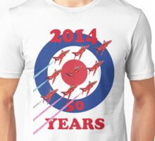 50 Years Of The Red Arrows Tee Shirt Unisex T-Shirt