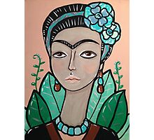 A Modern Portrait of Frida Kahlo Photographic Print