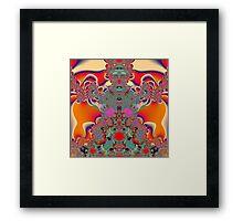 Red Meditation Framed Print