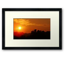 Peachy Morning Hours Framed Print