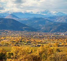 Boulder Colorado Autumn Scenic View by Bo Insogna