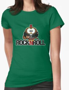 Rock n Roll Owl Womens Fitted T-Shirt
