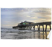 November Morning at Sun Glow Pier Poster