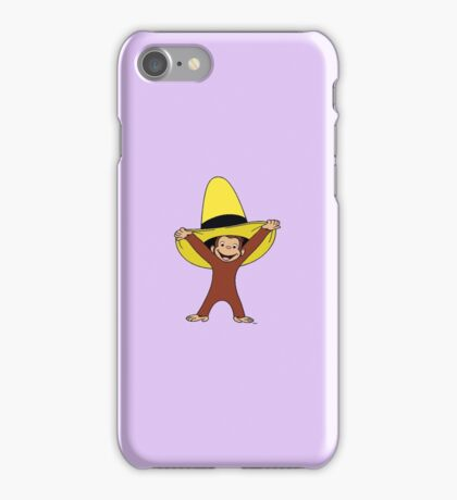 Funky Curious George iPhone Case/Skin