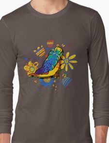drawing of the bird Long Sleeve T-Shirt