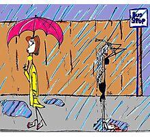 Raining Photographic Print